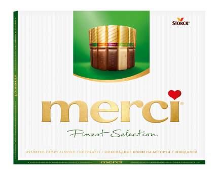 Набор конфет шоколадные Merci ассорти с миндалем 250 г