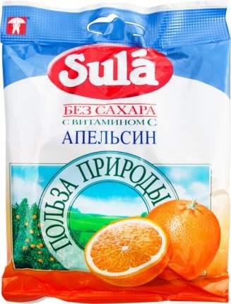 Леденцы Sula без сахара с витамином С апельсин 60 г