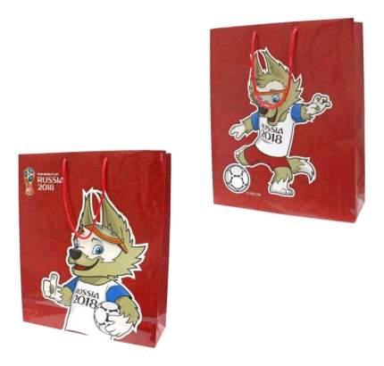 Пакет подарочный FIFA-2018 Красный Т11904
