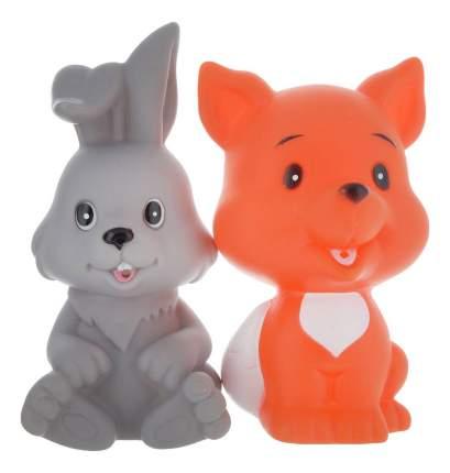 Игрушки для ванной набор Заяц и лиса Играем вместе LXB333_335