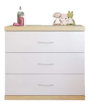 Комод пеленальный Classic дуб/белый глянец Polini 1087,22