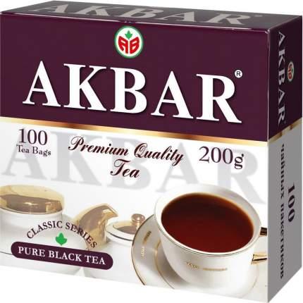 Чай черный Akbar цейлонский классический 100 пакетиков
