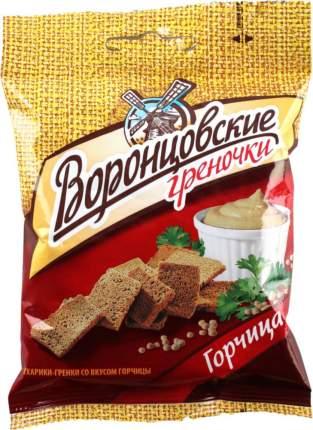 Гренки ржано-пшеничные Воронцовские со вкусом горчицы 60 г