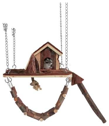 Домик для грызуна TRIXIE металл, дерево, текстиль, 22х26см, цвет коричневый