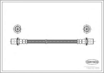 Шланг тормозной системы Corteco 19032785