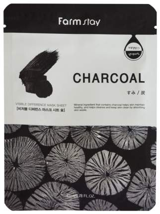 Маска для лица Farm Stay Visible Difference Mask Sheet Charcoal 23 мл