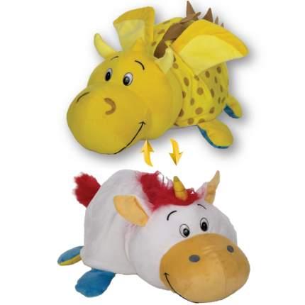 Мягкая игрушка 1 TOY Вывернушка 40 см 2 в 1, Золотой дракон-Единорог (Т12335)