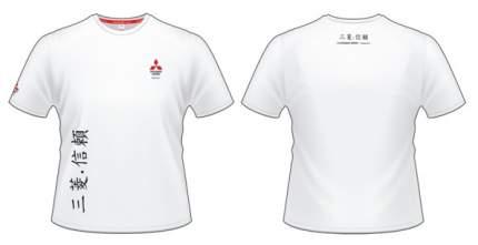 Женская футболка Mitsubishi RU000012 Hieroglyph White