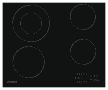 Встраиваемая варочная панель электрическая Indesit RI 260 C Black