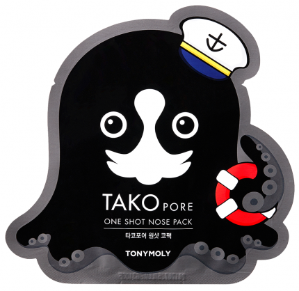 Патчи для очищения кожи Tony Moly Tako Pore One Shot Nose Pack