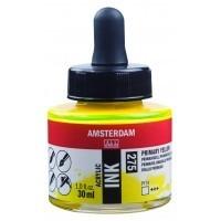 Акриловые чернила Royal Talens Amsterdam №257 желтый 30 мл