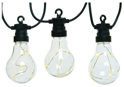 Электрогирлянда светлячки в лампочках, 20 тёплых белых микро led-огней, 9.5+5 м kaemingk