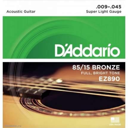 Струны для акустической гитары D ADDARIO EZ890