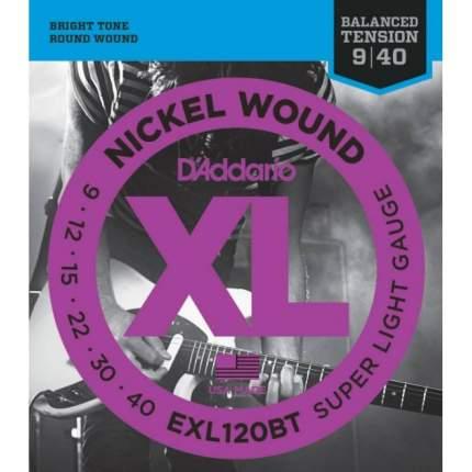 Струны для электрогитары D ADDARIO EXL120 BT