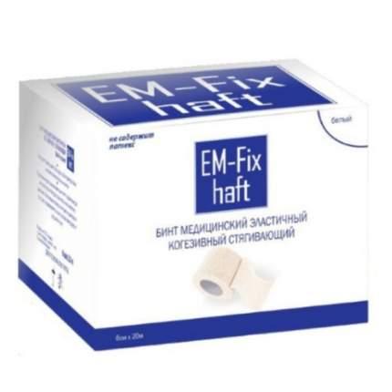 Бинт медицинский эластичный когезивный стягивающий EM-fix haft 4см х 4м 4смх4м