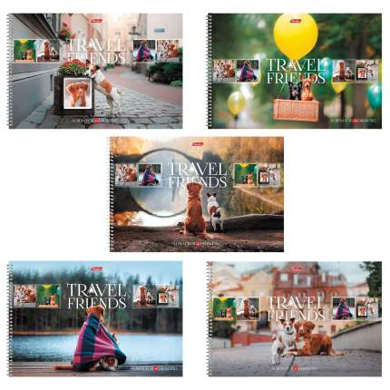 Альбом для рисования HATBER 48А4Всп, A274361, А4, 48 л, спираль, Путешествие друзей-1