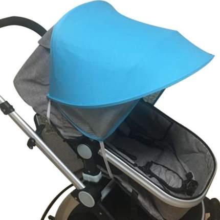 Козырек от солнца на коляску Happy Mom голубой