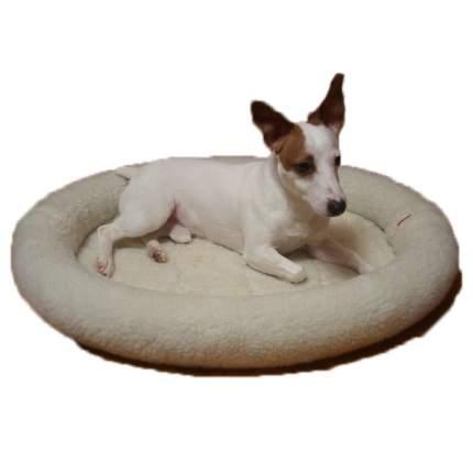 Лежак для животных Ладиоли, овальный с жестким валиком