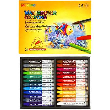 Набор акварельных мелков трехгранных для начинающих MUNGYO, 24 цвета