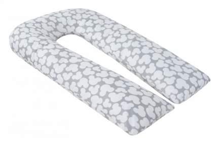 """Подушка AmaroBaby для беременных, U-образная """"Мышонок"""", 340x35 см, серый"""