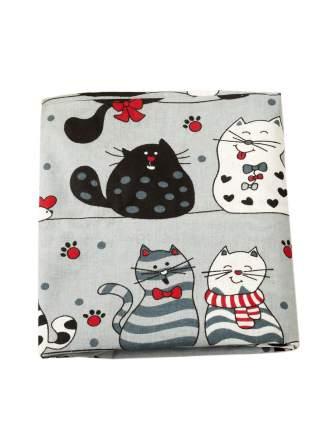 Наволочка к подушке для беременных AmaroBaby U-образная 340х35 (КОТИКИ серый)