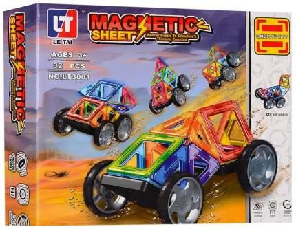 """Магнитный конструктор """"Машинка"""", 32 детали"""