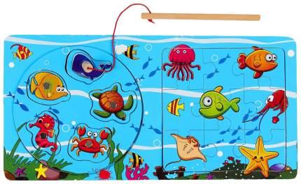 Рыбалка Веселые рыбки, с пазлом Sima-Land