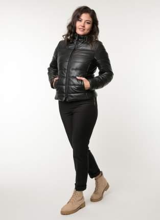 Кожаная куртка женская Каляев 80108К черная 46 RU