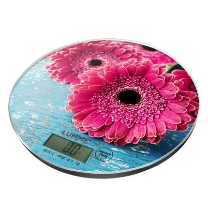 Весы Lumme LU-1341  розовая гербера