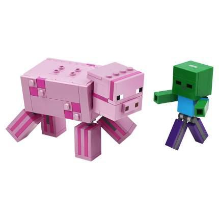 Конструктор LEGO Minecraft 21157 Большие фигурки Minecraft, Свинья и Зомби-ребёнок
