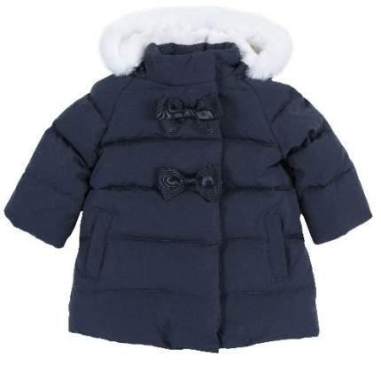 Куртка Chicco для девочек р.80 цв.темно-синий