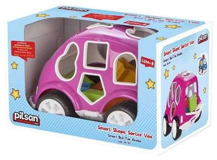 """Машинка-сортер с кубиками Pilsan """"Smart Shape Sorter Car"""", розовая, арт. 03-187"""