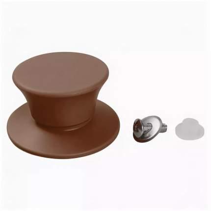Тима Ручка к крышке с саморезом в упаковке, коричневая
