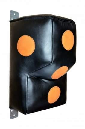 Подушка апперкотная РОККИ Г-образная нат. кожа 70x50 см черный/оранжевый