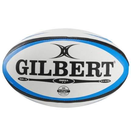 Мяч для регби Gilbert Omega, 5, белый/синий