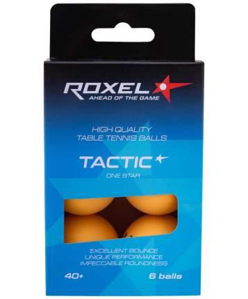 Мяч для настольного тенниса Roxel Tactic 1* 6 шт., оранжевый