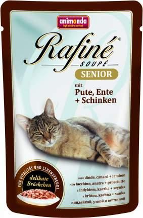 Влажный корм для кошек Animonda Rafine Soupe Senior, индейка, утка и ветчина, 100г