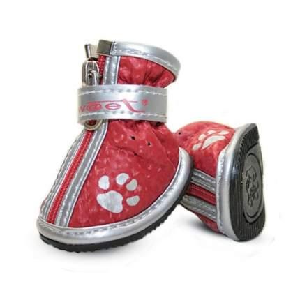 Ботинки для собак Triol, красные с лапками, размер 2
