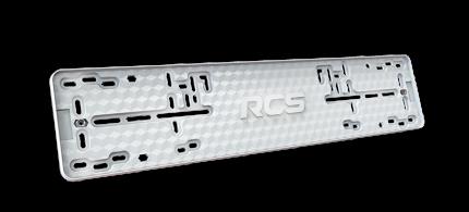 Пластиковая рамка номерного знака RCS-Light белая 1шт