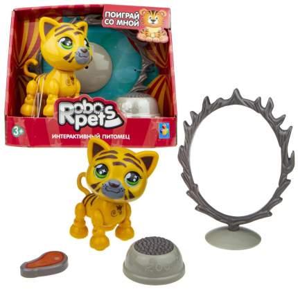 Интерактивная игрушка 1TOY Robo Pets Артист цирка. Тигр Т16940