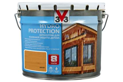 V33 Hydro Protection антисептик для усиленной защиты дерева 9 л, Цвет орегон