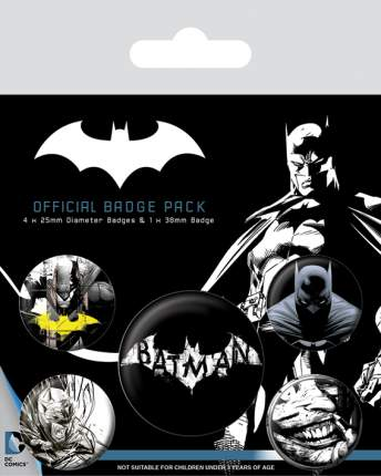Набор значков Pyramid Batman - Dark (5 шт) BP80546