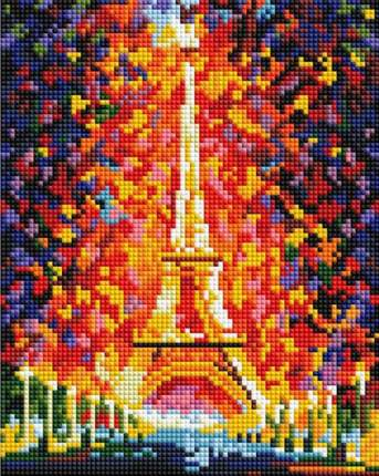Алмазная вышивка Белоснежка Париж - огни Эйфелевой башни 20x25 см
