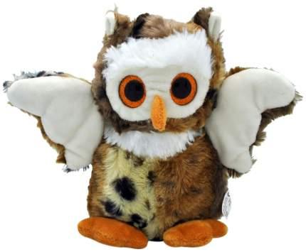 Мягкая игрушка АБВГДейка Сова глазастая темная, 20 см