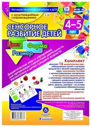 Сенсорное развитие детей 4-5 лет Цвет Форма Размер Дидактические игры и упражнения
