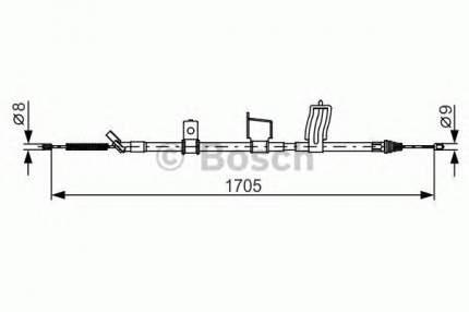 Трос cтояночного тормоза BOSCH 1987482339