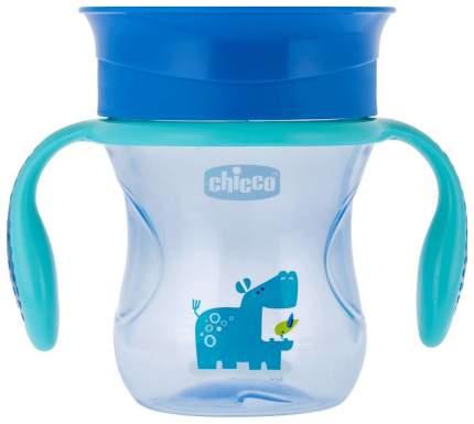 Чашка-поильник Chicco Perfect Cup носик 360, 266 мл, Голубой с бегемотиком