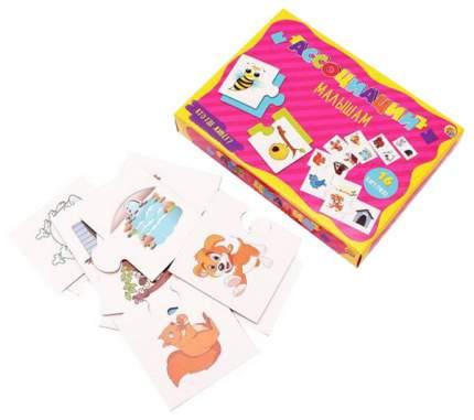 Семейная настольная игра Рыжий кот Ассоциации малышам Кто где живет ИН-6776
