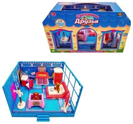 """Игровой набор Abtoys """"Счастливые друзья: Спальная комната"""" 11 пред."""