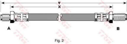 Тормозной шланг TRW/Lucas PHC199